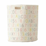 Alphabet Hamper, Multicolor