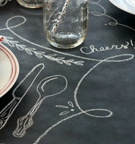 "Chalkboard Table Runner - 30"" X 50' by Kitchen Papers - free shipping"