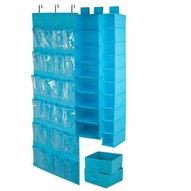 Closet Organizing Set, Blue - 4 Piece Set