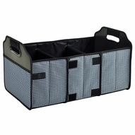 Foldable Trunk Organizer, Houndstooth - Black & White