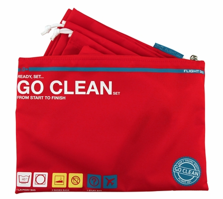 Go Clean Set, Red - free shipping