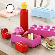 Lego Lunch Time - Red & Pink