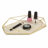 Prisma Jewelry Tray, Matte Brass - Set of 2