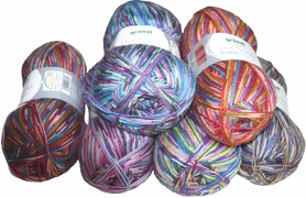 100g GERMAN Self Striping Viscose SuperWash SOCK Yarn RUBIN