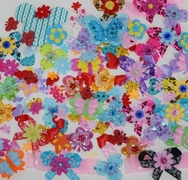 Bag of 50 Assorted Felt Padded Appliqués Mix Color of Various Shapes and Sizes