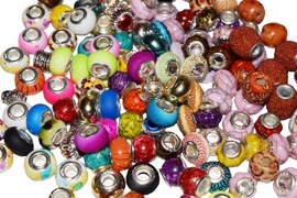 60 Charm Beads for 30 Ladder Necklaces with Large Hole Bead soup Mix