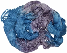 100g Mulberry QUEEN SILK 780 yrd Lace Weight (Fine) Luxury Yarn Plummy Blue