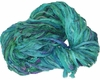 Sari SILK 100g Ribbon Art Yarn Aqua