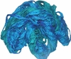 Sari SILK 100g Ribbon Art Yarn Aqua Teal
