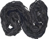 Sari SILK 100g Ribbon Art Yarn Black