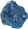Sari SILK 100g Ribbon Yarn Blue
