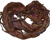 Sari SILK 100g Ribbon Yarn Brown Purple