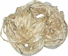 Sari SILK 100g Ribbon Yarn Cream