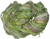 Sari SILK 100g Ribbon Art Yarn Grass Green