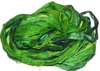 Sari SILK 100g Ribbon Yarn Green