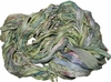 Sari SILK 100g Ribbon Art Yarn Green Palm Breeze