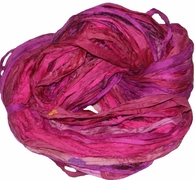 Sari SILK 100g Ribbon Yarn Hot Pink
