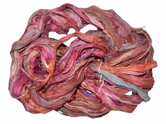 Sari SILK 100g Ribbon Yarn Indian Red