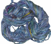 Sari SILK 100g Ribbon Yarn Lavender Blue