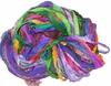 Sari SILK 100g Ribbon Art Yarn Multi Viola