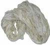 Sari SILK 100g Ribbon Yarn Off White