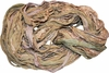 100g Sari SILK Ribbon Yarn Olive Cream