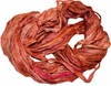 100g Sari SILK Ribbon Yarn Orange Pinkish