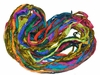 Sari SILK 100g Ribbon Art Yarn Parrot Green