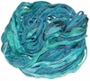 Sari SILK 100g Ribbon Art Yarn Sea Green