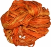 Sari SILK 100g Ribbon Art Yarn Sunny Orange