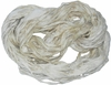 Sari SILK 100g Ribbon Art Yarn White Cream