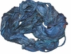 Sari SILK 100g Ribbon Art Yarn Windserf Blue