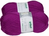 100g GERMAN Silky Solid SuperWash SOCK Yarn Hot Sox UNI Grundl Fuchsia