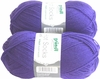100g GERMAN Silky Solid SuperWash SOCK Yarn Hot Sox UNI Grundl Purple