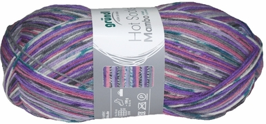 100g GERMAN Silky Self Striping SuperWash SOCK Yarn Mambo Grundl 05