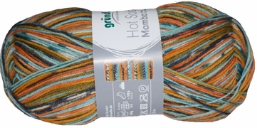 100g GERMAN Silky Self Striping SuperWash SOCK Yarn Mambo Grundl 06