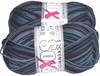 100g GERMAN Silky Solid SuperWash SOCK Yarn SOXS Grundl Grey Print