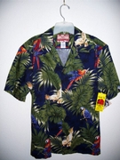 Hawaiian Aloha Blue Tropical Shirt 2X - 3X