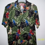 RJC BlkGrn Tropical Shirt 2x - 3x