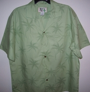 Tropical Hawaiian Green Shirt PT