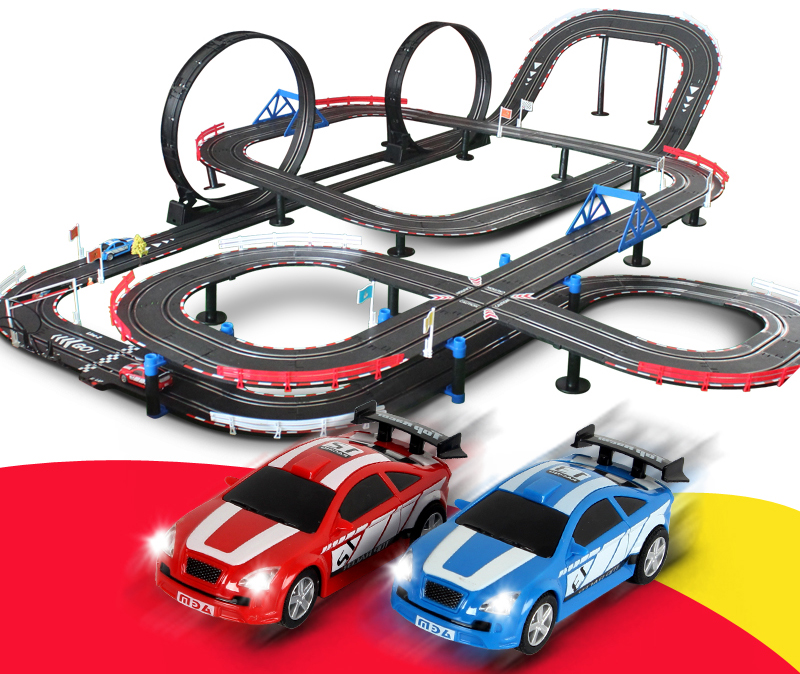 Car Race Set With Magnetic Electric Car