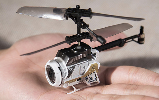 Silverlit Toys Nano Mini Spy Rc Helicopter Camera Remote