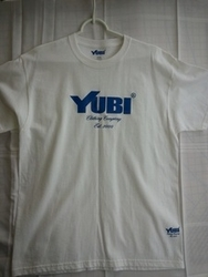 yubi- logo-blue-white -t-shirt