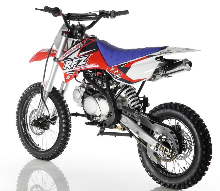 """Apollo Dirt Bike 125cc Over-Size with 17"""" Tire - Twin-Spar Frame- Inverted Forks"""