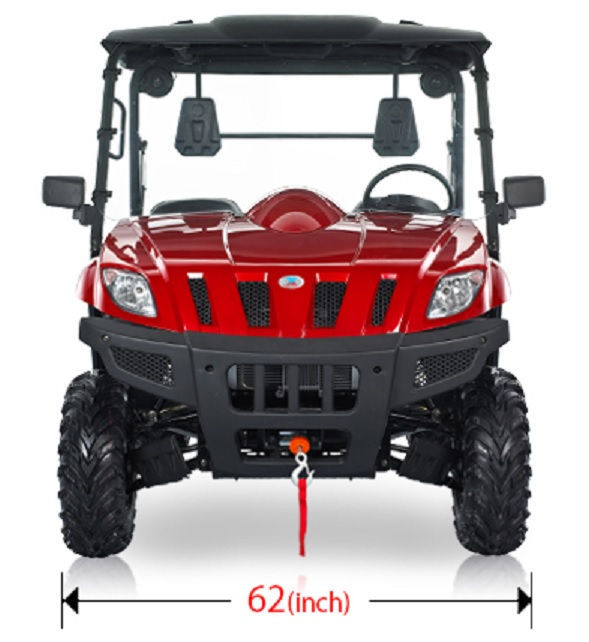 Bms ranch pony 600 4wd utv dump bed rugged suspension roll cage