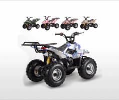 Jet Moto Series Ranger R1 Camo Colors -Youth 110cc ATV  with Rack- Fast Free Shipping - FREE Goggles & Gloves! Auto-Trans - Remote Kill Switch