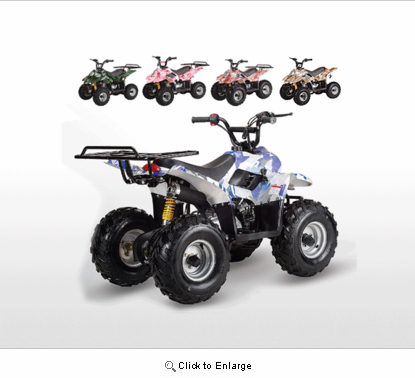 Jet Moto Series Ranger R Camo Colors Youth Cc Atv With Rack Fast Free Shipping Free Goggles Gloves Auto Trans Remote Kill Switch on 110 Chinese Atv Exhaust