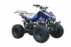 Jet Moto Deluxe Sport Model 125cc ATV.  Oversize Tires - Rugged Suspension - KartQuest.com