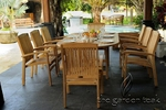 Boston Teak Dining Set With Extension Table