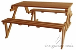 Teak Folding Bench Table